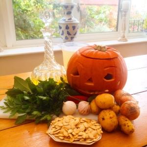 Pumpkin Soup ingrediants